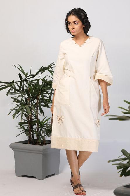 OFF WHITE POCKET DRESS