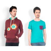 DUSG Men's Hooded Sweatshirt & T-Shirt Combo Pack, xl