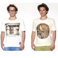 DUSG Fashion Pack of 2 Combo Men's White Round Neck T-Shirt, l