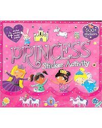 Children's 4 Book 500+ Sticker Activity Carry Pack- Princess