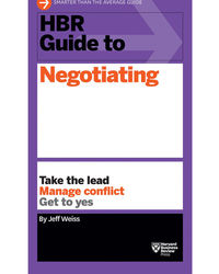 Hbr Guide To Negotiating