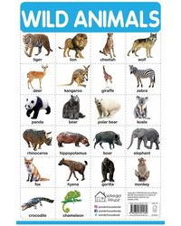 My First Early Learning Educational poster: Wild Animals