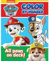 All Paws On Deck: Paw Patrol Color By Number