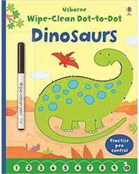 Wipe- Clean Dot- To- Dot Dinosaurs