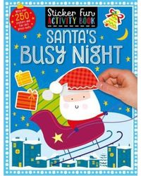 Sticker Scenes Colouring Book Santa's Busy Night