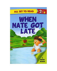 All Set To Read A Phonics Reader When Nate Got Late