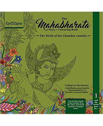 Mahabharata Story Colouring Book 1- The Birth Of Chandravanshis