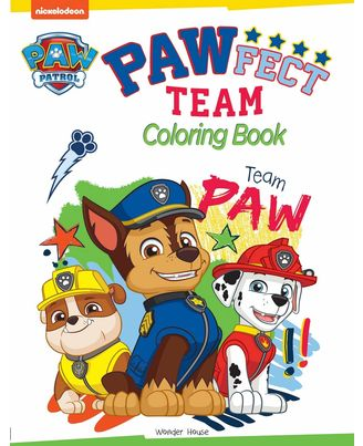Pawfect Team: Paw Patrol Coloring Book Fo Kids
