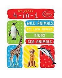 My First 4In1 Wild Animals, Pet & Farm Animals, Birds, Sea Animals
