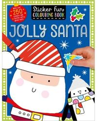 Sticker Scenes Colouring Book Jolly Santa