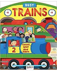 Busy Trains: Shape Book