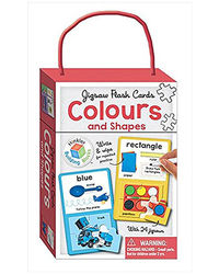 Colours & Shapes Building Blocks Jigsaw Flash Cards