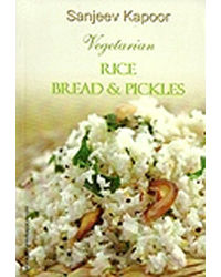 Vegetarian Rice, Bread And Pickles