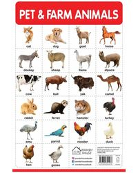 My First Early Learning Educational poster: Pet & Farm Animals