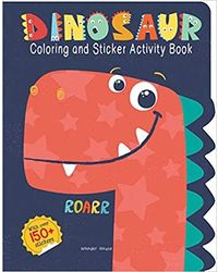 Dinosaurs- Coloring And Sticker Activity Book