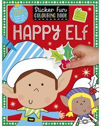 Sticker Scenes Colouring Book Happy Elf