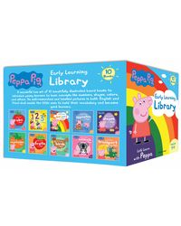 Peppa Pig Early Learning Library (10 Books)