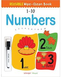Reusable Wipe And Clean Book 1- 10 Numbers