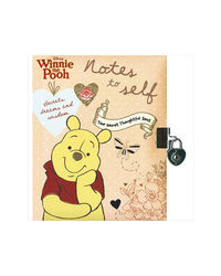 Disney Winnie The Pooh Notes To Self (Lock & Key) (Disney Vintage Book Of Secrets)