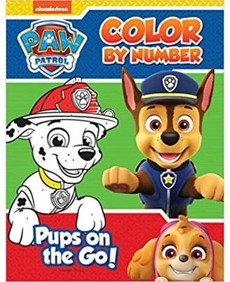 Pups On The Go: Paw Patrol Color By Number