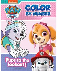 Pups To The Lookout: Paw Patrol Color By Number