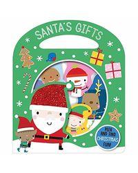 Busy Windows Santa's Gifts