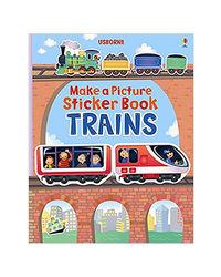 Trains (Usborne Make A Picture Sticker Book)