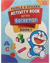 Puzzle & Sticker With Doraemon Activity Book 1
