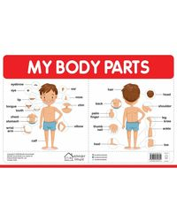My First Early Learning Educational poster: My Body Parts