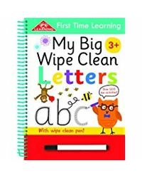 First Time Learning Wipe Clean- Letters: Spiral Bound