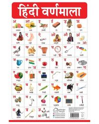 My First Early Learning Educational poster: Hindi Varnmala