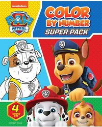Paw Patrol Color By Number Super Pack