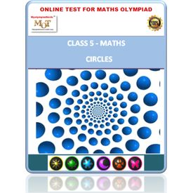 Class 5, Circles, Online test for Math Olympiad