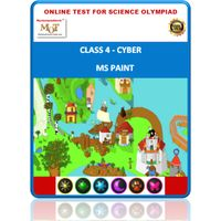 Class 4, MS Paint, Online test for Cyber Olympiad