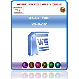 Class 8, MS WORD, Cyber Olympiad Online test