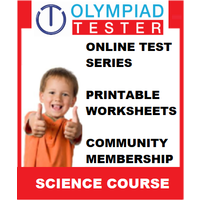 Class 2 Science Olympiad Course- (100+ Online tests+ 100 Printable worksheets)