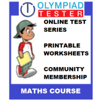 Class 3 Maths Olympiad Course- (Online test series+ Printable worksheets+ Community Membership)