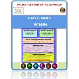 Class 7, Integers, Online test for Math Olympiad
