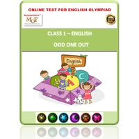 Class 1- Odd one out- Online test for English Olympiad