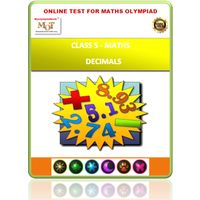 Class 5, Decimals, Online test for Math Olympiad
