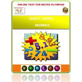 Class 5, Decimals, Online test for Math Olympiad