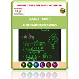 Class 8, Algebraic expressions, Online test for Math Olympiad
