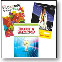 Class 7- BMA's Olympiad & talent exam, Resource book+ Model papers+ Reasoning trainer (With Solution book)