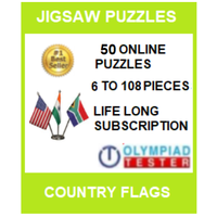 50 Online Jigsaw puzzles (6 to 108 pieces) - Country Flags