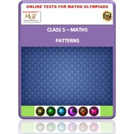 Class 5, Patterns, Online test for Math Olympiad