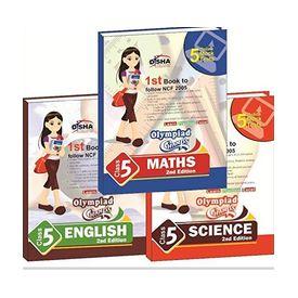 Class 5- Olympiad Champs Science, Mathematics, English (set of 3 books) + Subscription to GLOWMOT & GLOWSOT