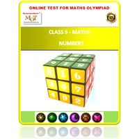 Class 5, Numbers, Online test for Math Olympiad