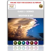 Class 1- Weather & Sky- Online test for Science Olympiad