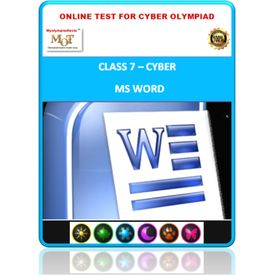 Class 7, MS Word, Online test for Cyber Olympiad