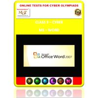 Class 3, Introduction to MS Word, Online test for Cyber Olympiad